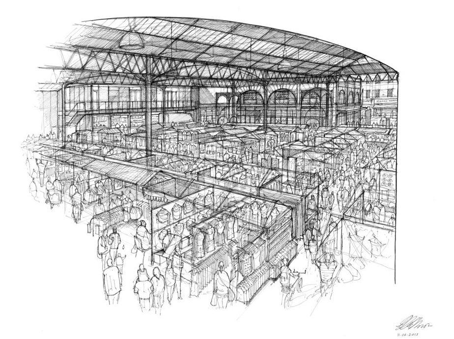 Spitalfields Market by Luke Hawker