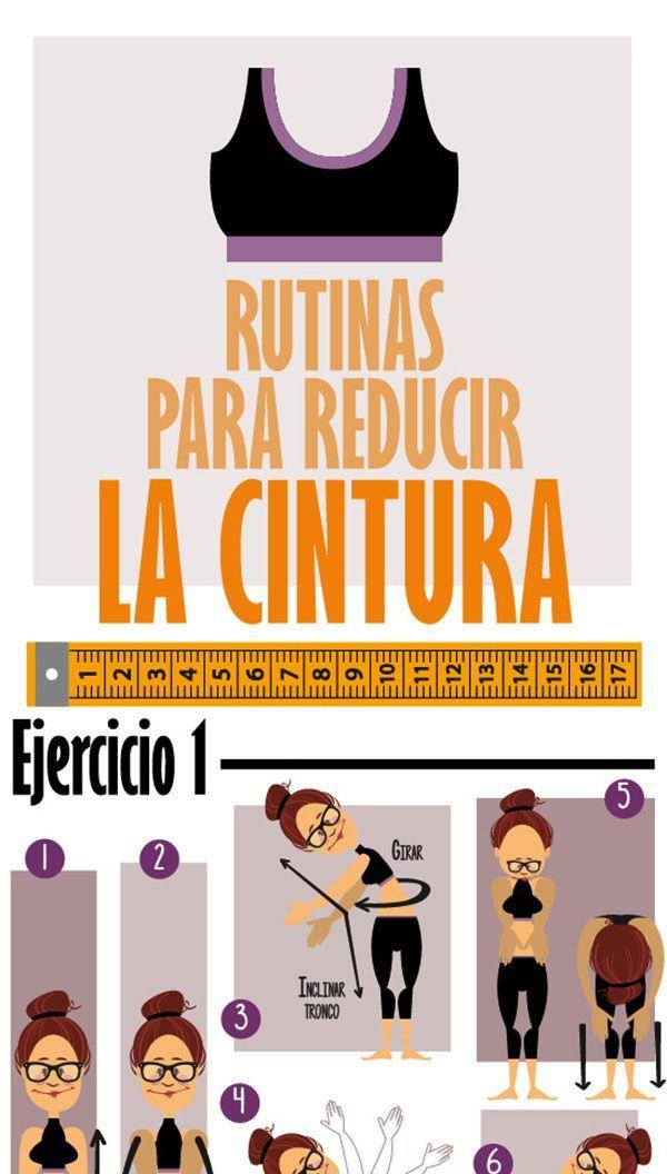 Rutina de ejercicios para adelgazar abdomen y cintura envidiables