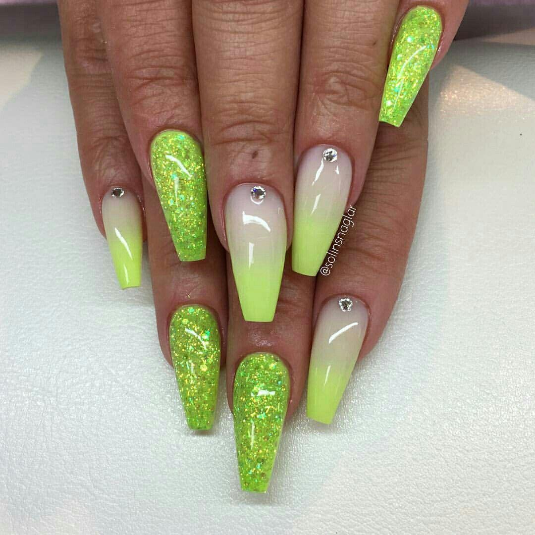 Iiiannaiii Lime Nails Neon Green Nails Lime Green Nails