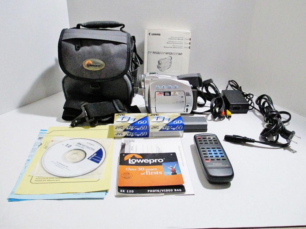 canon zr60 minidv digital video camcorder case remote manual rh pinterest com Canon 7D Manual canon zr65 manual