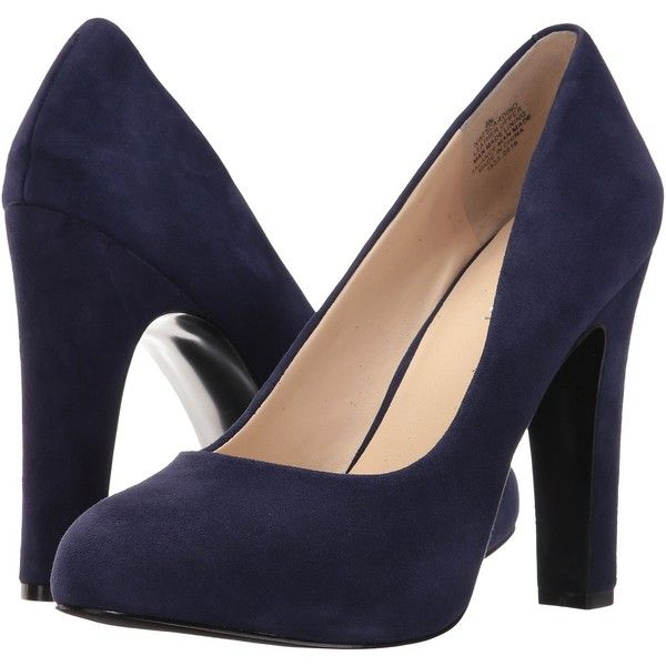 Nine West Scardino (Navy Suede) Women's Shoes (86 NZD) ❤ liked on Polyvore  featuring shoes, pumps, blue, platform pumps, navy blue shoes, pointed t…