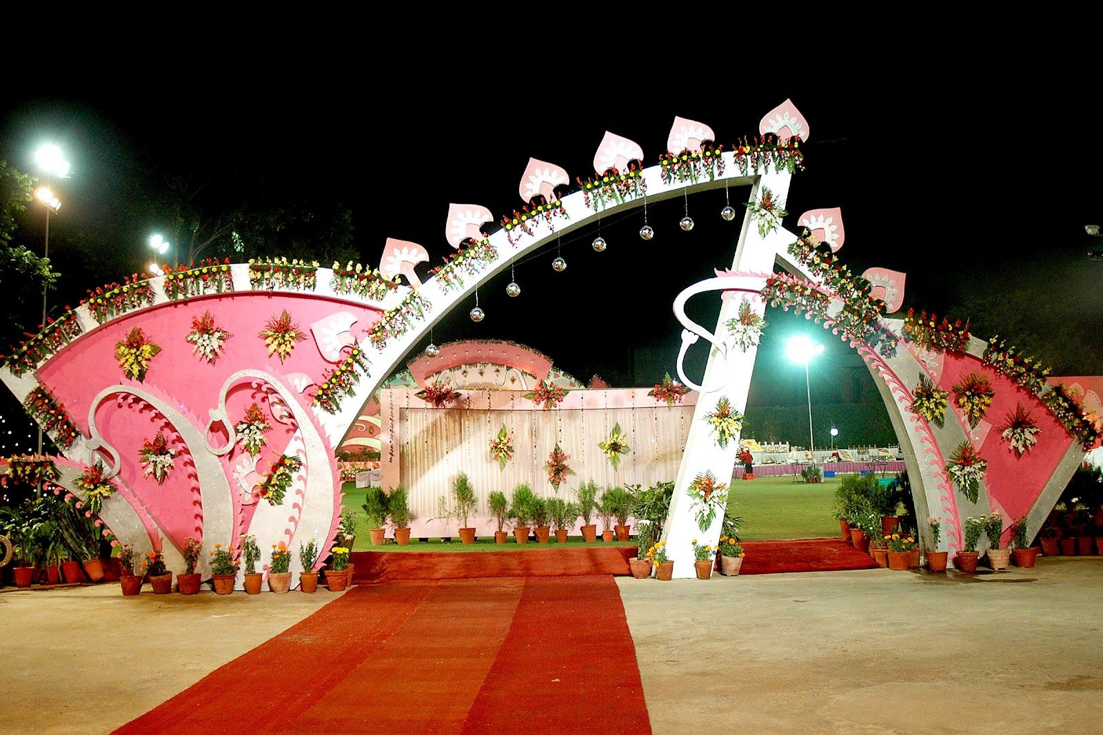 Wedding hall entrance decorations wedding photo for Decoration hall
