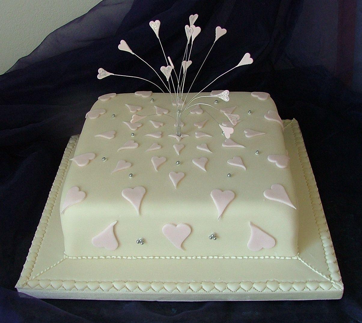 Single Layer Wedding Cake Google Search