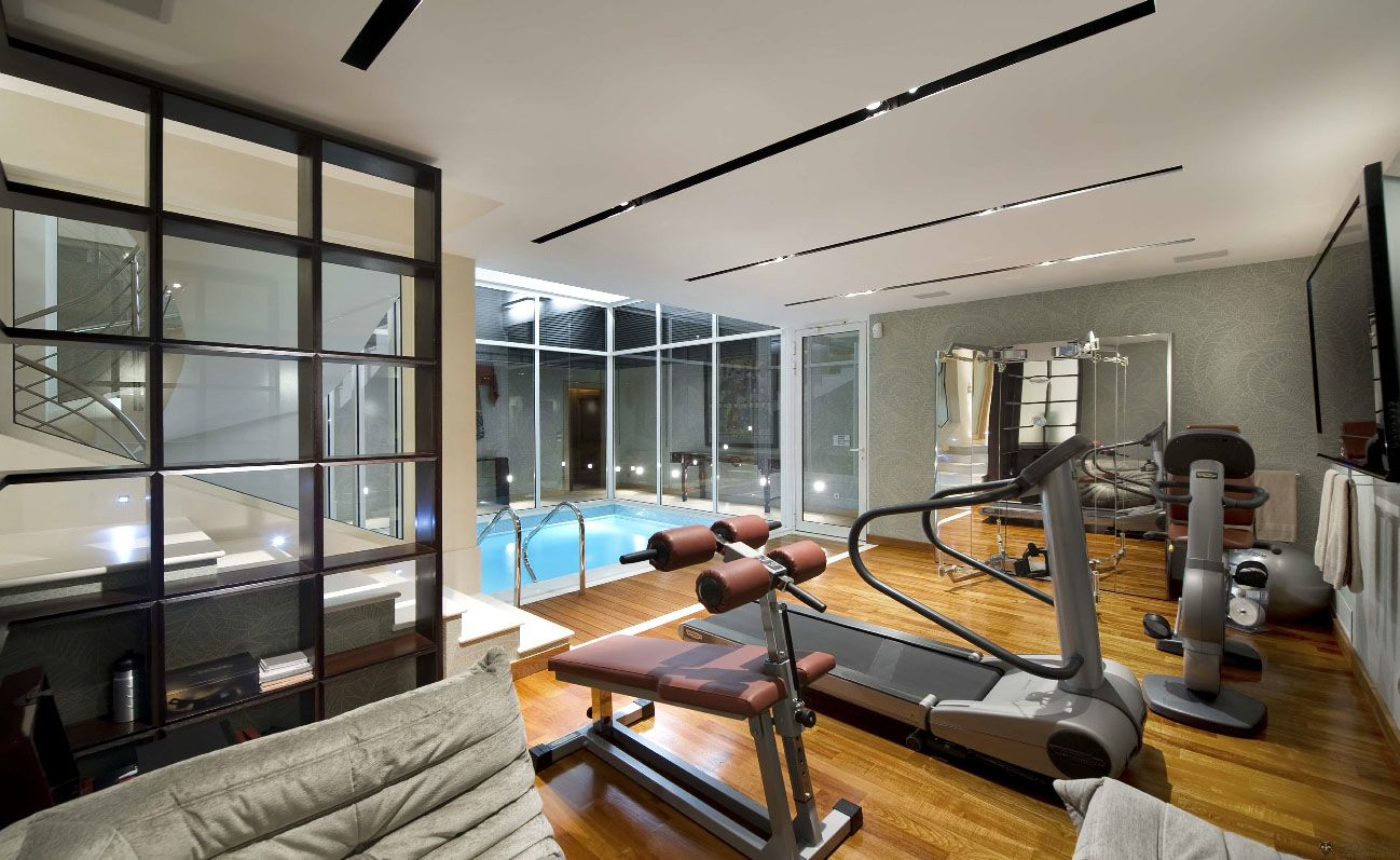 Pictures Of Home Gyms Contemporary Villa With Homegym & Swimming Pool Côtedazur