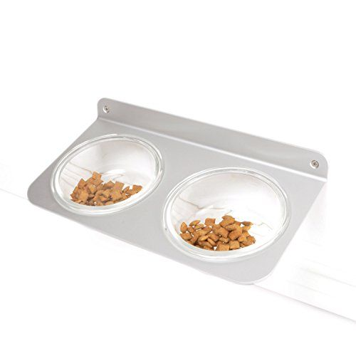 4claws Wall Mounted Pet Feeder With Glass Bowls You Can Find