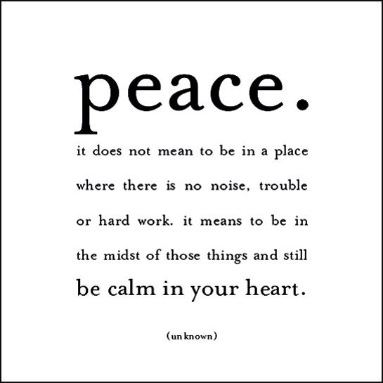 Finally Finding Peace Quotes