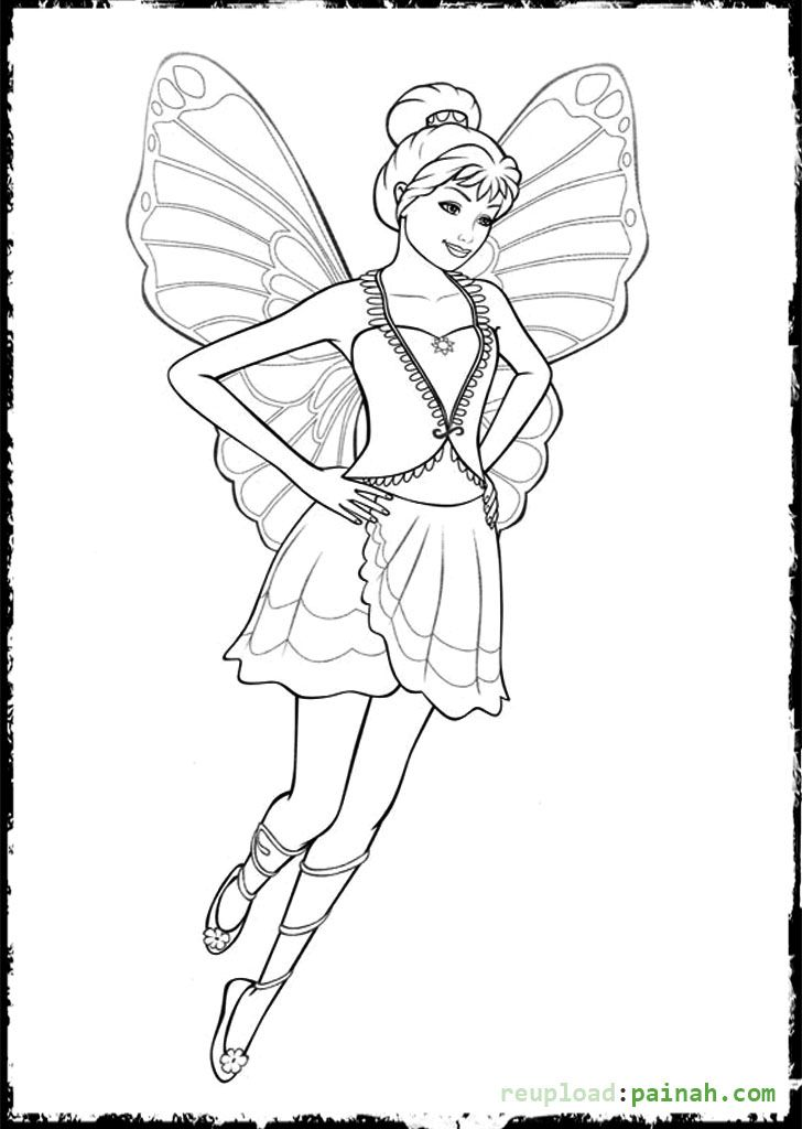 Fairy Barbie Coloring Pages Flying