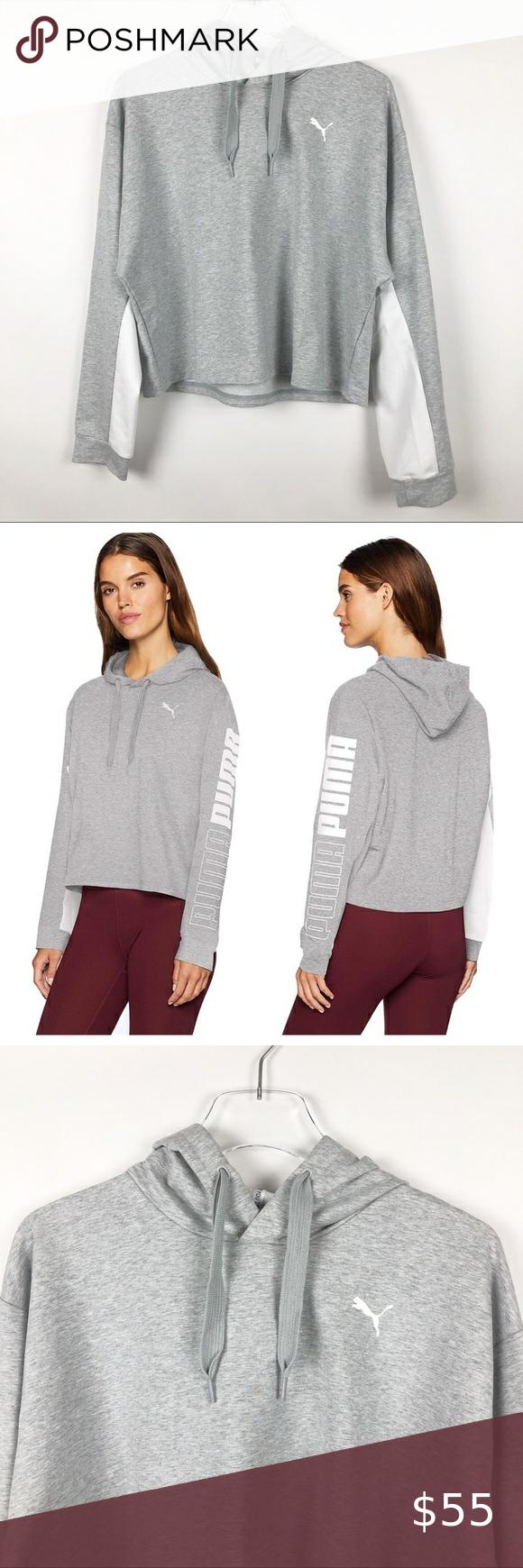 Puma Women S Modern Sport Sweatshirt Hoodie Top L In 2021 Sports Hoodies Puma Women Sports Sweatshirts [ 1740 x 580 Pixel ]