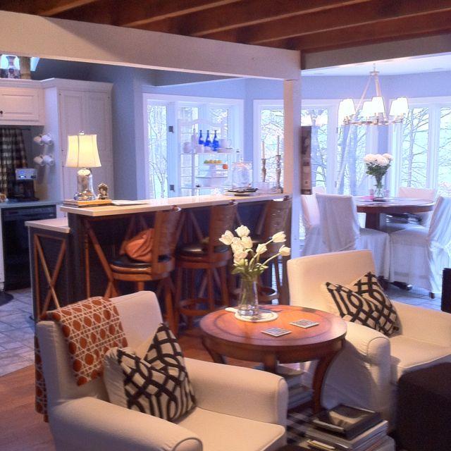 Hearth Room: Hearth Room In Lake House