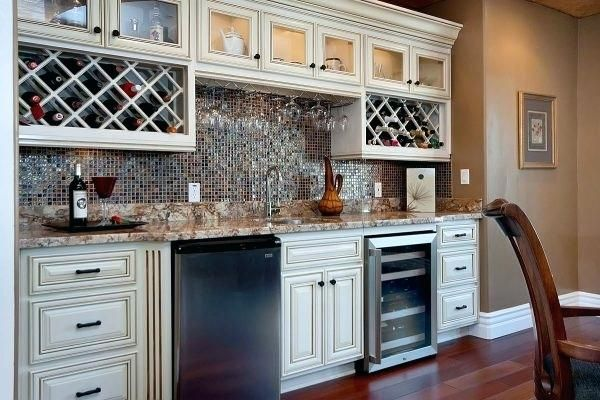 Kitchen Cabinet Wine Rack Or Image Of Glittering Bar Cabinet With