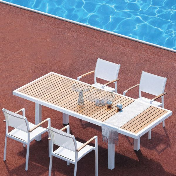 Vermont Extendable Garden Table And Chair Set: Mediterranean Extendable Teak Top Dining Table