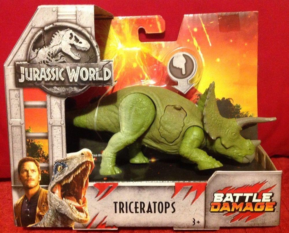Jurassic World Fallen Kingdom Battle Damage Triceratops Jurassic Park NEW