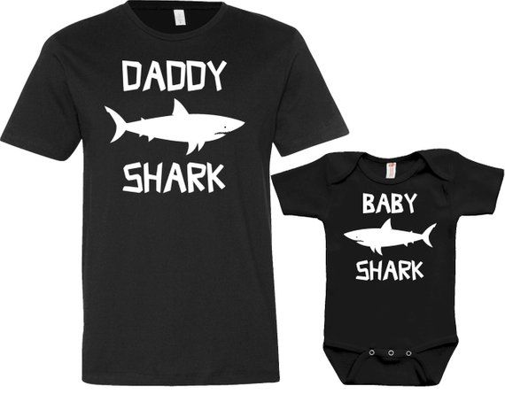 72a67bf80 Daddy Shark Baby Shark And Me Clothing Dad And Son Matching Set Daddy Son  Shirt Father And Son Gift