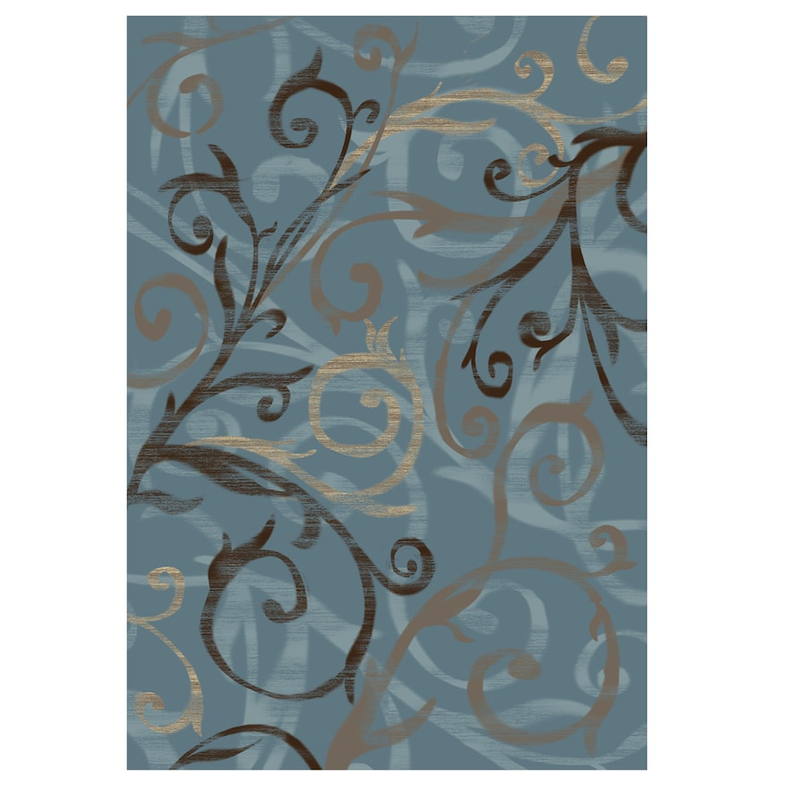 Ruggable Washable Ironwork Swirls 2 Piece Indoor Outdoor Rug