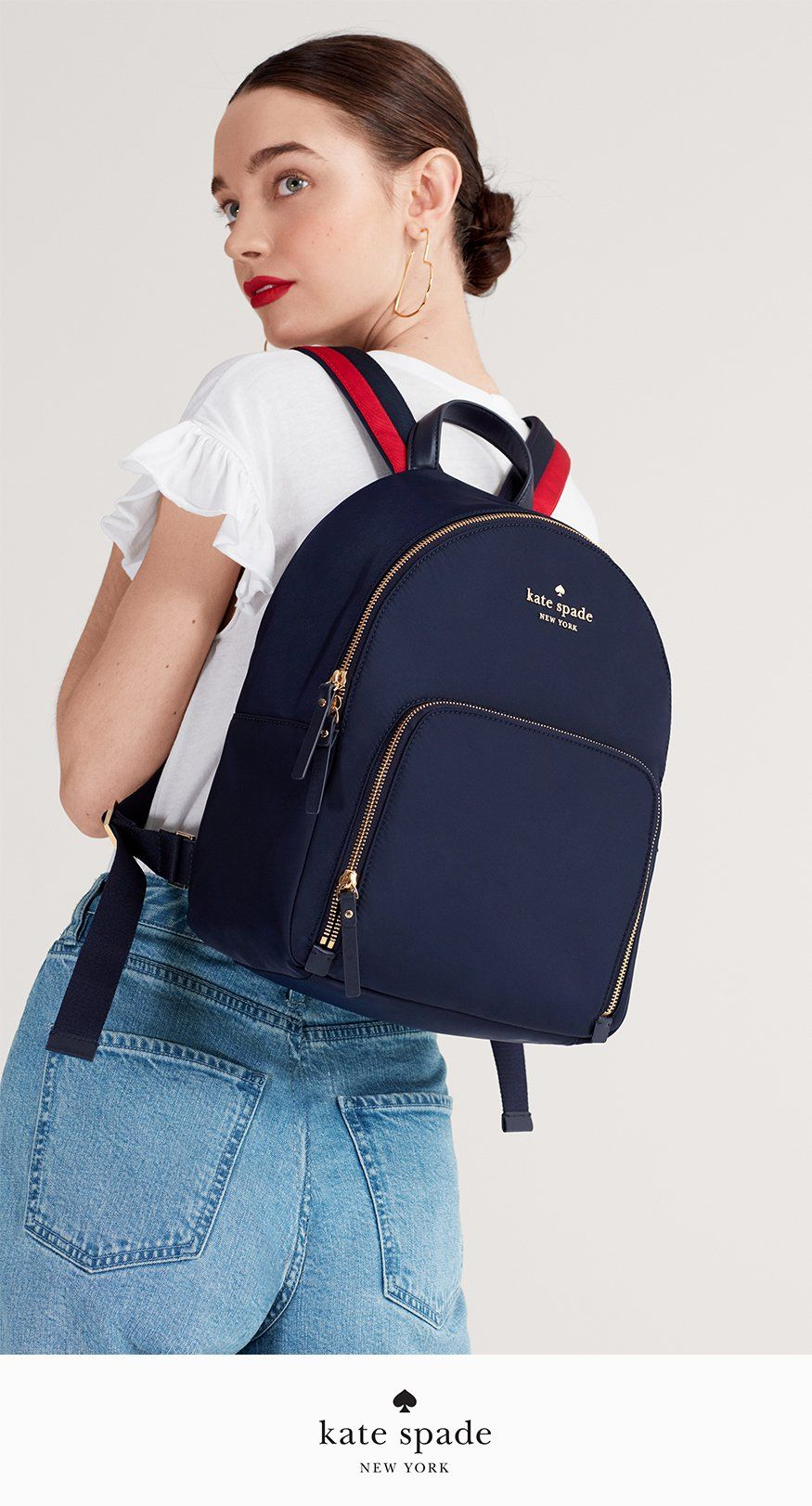 036110ee01 Womens Fashion · introducing the varsity stripe collection. shop now. Kate  Spade Backpack