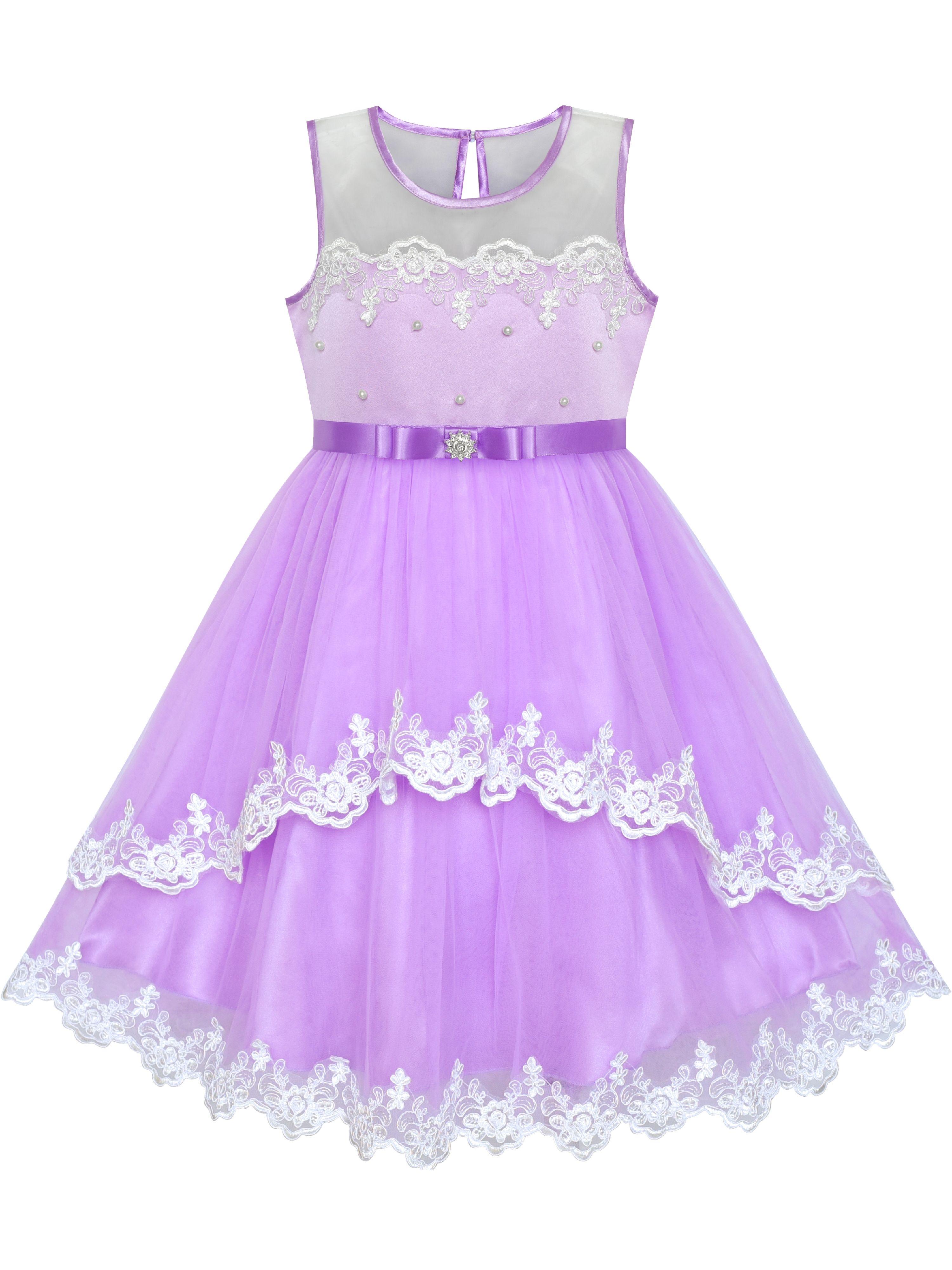 Sunny Fashion Flower Girls Dress Purple Lace Belted Wedding Party 6 Years Walmart Com In 2021 Purple Girls Dress Purple Flower Girl Dress Girls Blue Dress [ 4000 x 3000 Pixel ]