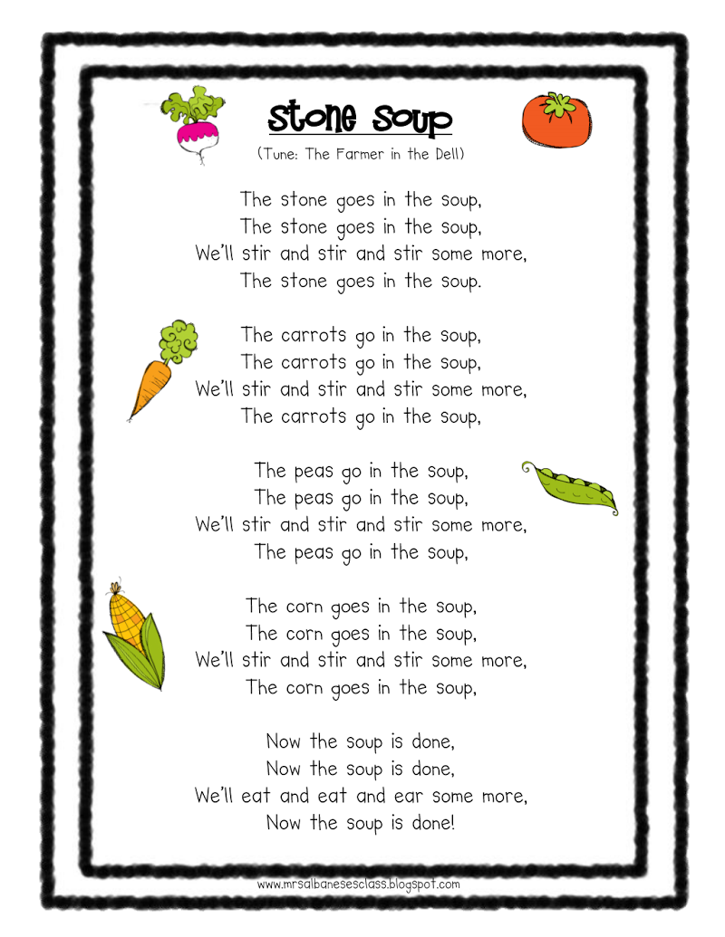 Stone Soup song | Soup Storytime | Pinterest | Stone soup, Math and ...