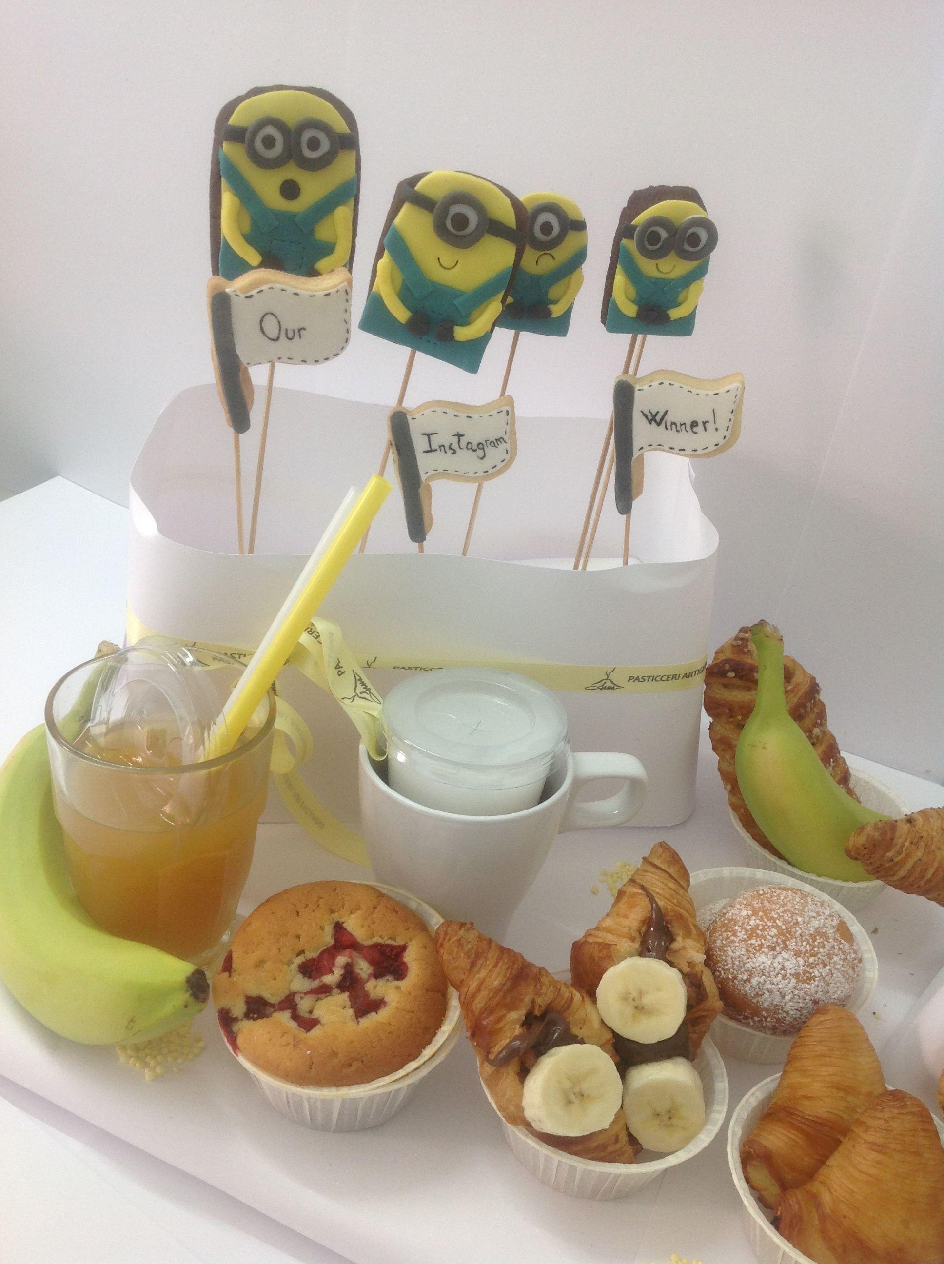 #mignonBreakfast#mignon#brakfastTable#banana#icedCookies#muffin#croissants#SessaspecialEventAndCakes#SessaartigianiDelGusto