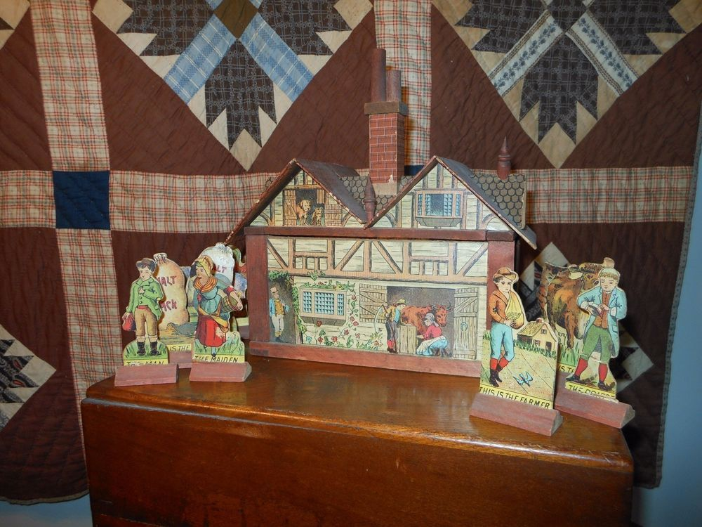 "Antique Bliss Dollhouse ""The House That Jack Built"" C 1890'S | eBay"