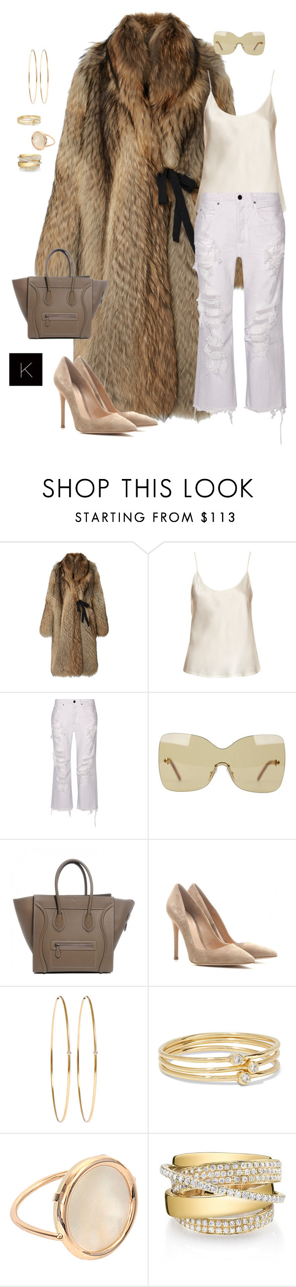 """Untitled #4123"" by kimberlythestylist ❤ liked on Polyvore featuring E L L E R Y, La Perla, Alexander Wang, Fendi, Gianvito Rossi, Jennifer Meyer Jewelry, Ginette NY and Shay"