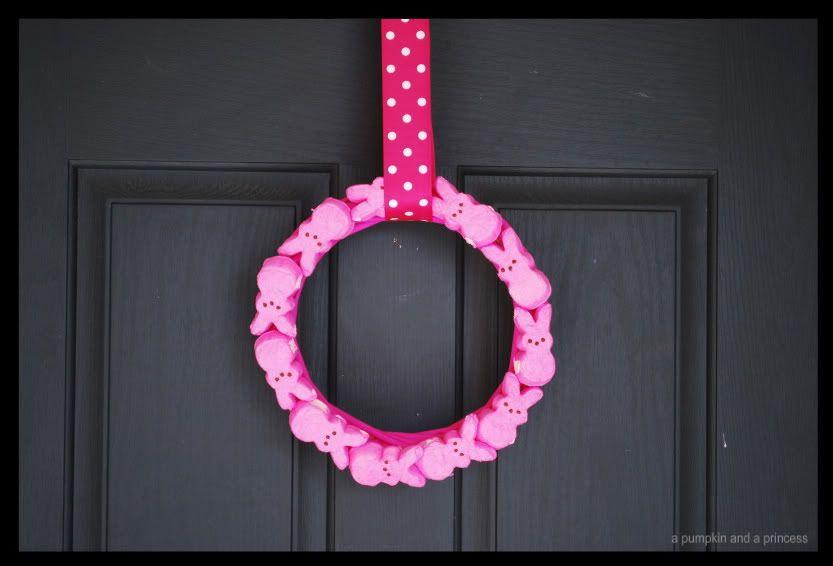 cute pink peep wreath