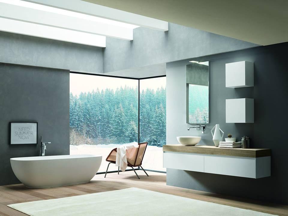 Bathroom Inspiration at Domayne. Love the stand alone bath tub ...