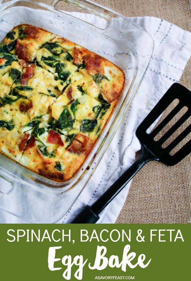 Spinach, Bacon and Feta Egg Bake images