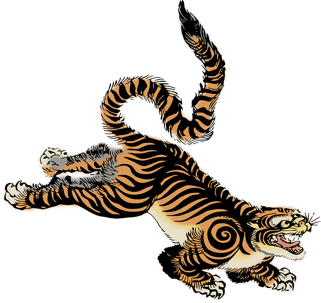 Chinese Zodiac Horoscope Pairing Tiger And Petite Sirah The Tiger Is Brave Intense Forceful And Represents Powe Tiger Illustration Japanese Tiger Tiger Art