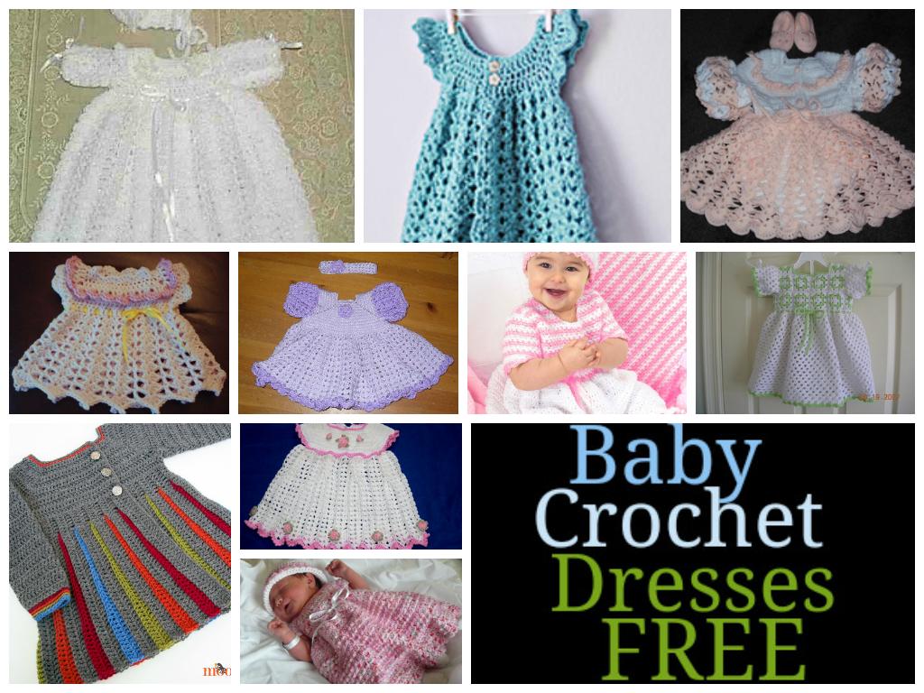 Free Crochet Baby Dresses Patterns Patterns Pinterest