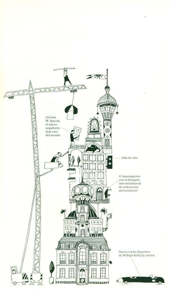 Ilustración de Albertine para la obra Los rascacielos, de Germano ...