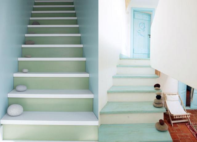 escalier bois contre marche blanche - Recherche Google | Escalier ...