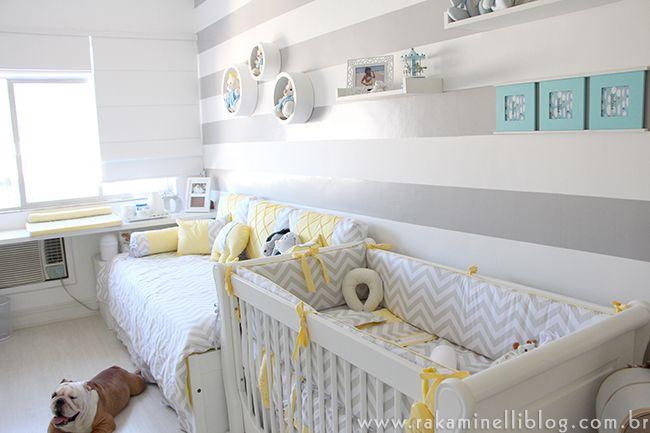 quarto bebe amarelo e cinza  Pesquisa Google  Quarto de Bebê  Pinterest