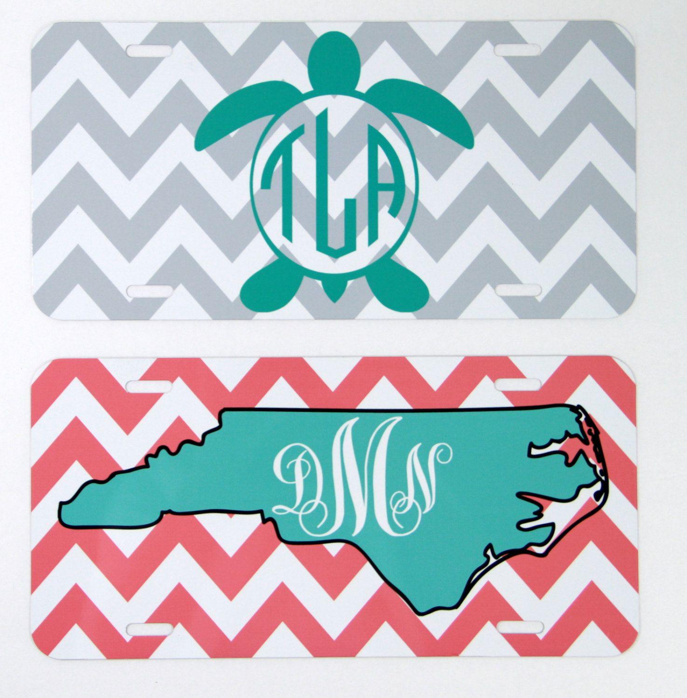 License Plate Car Tag North Carolina State Sea Turtle Personalized ...