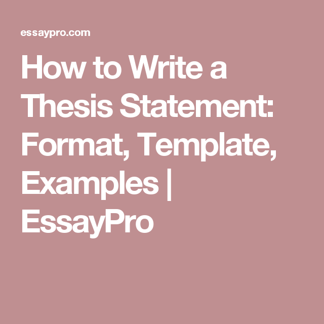 Need help writing a good thesis statement