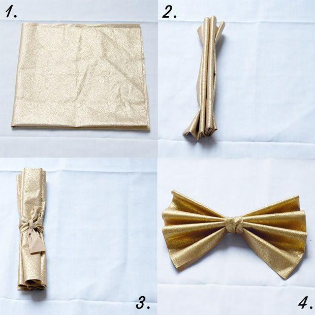 diy trois pliages de serviettes un peu kitsch pour les. Black Bedroom Furniture Sets. Home Design Ideas