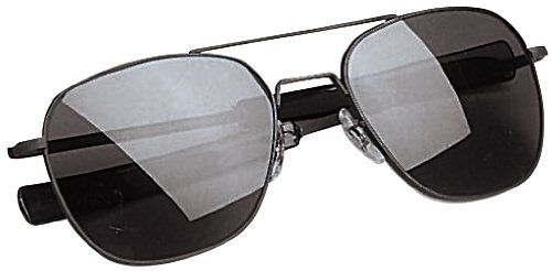 ff3acce838c2d Amazon.com  American Optical Original Pilot Eyewear 55mm Gold Frame with Bayonet  Temples and True Color Gray Glass Lens  Sports   Outdoors