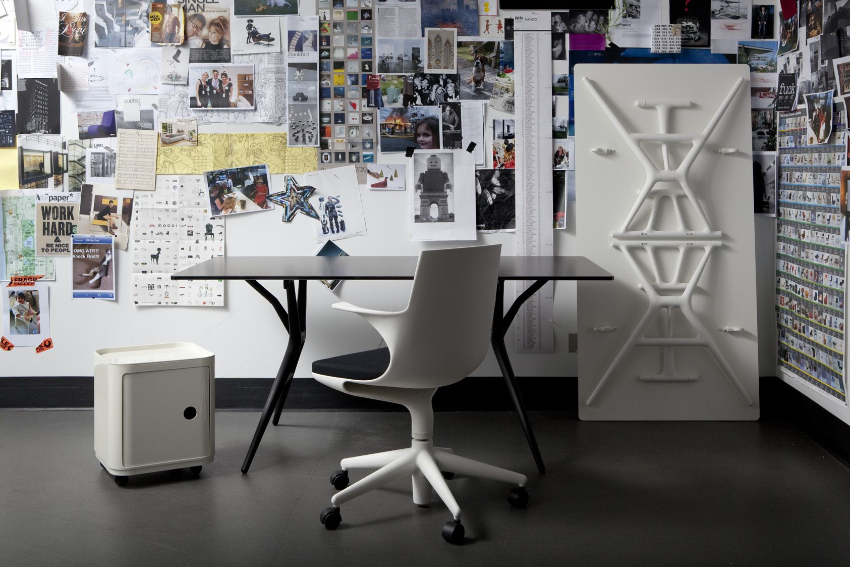 Kartell Complete Office Package 1 X Spoon Table 160 Cm White Or Black 1 X Spoon Chair White Or Blac Modern Home Offices Furniture Home Office Furniture