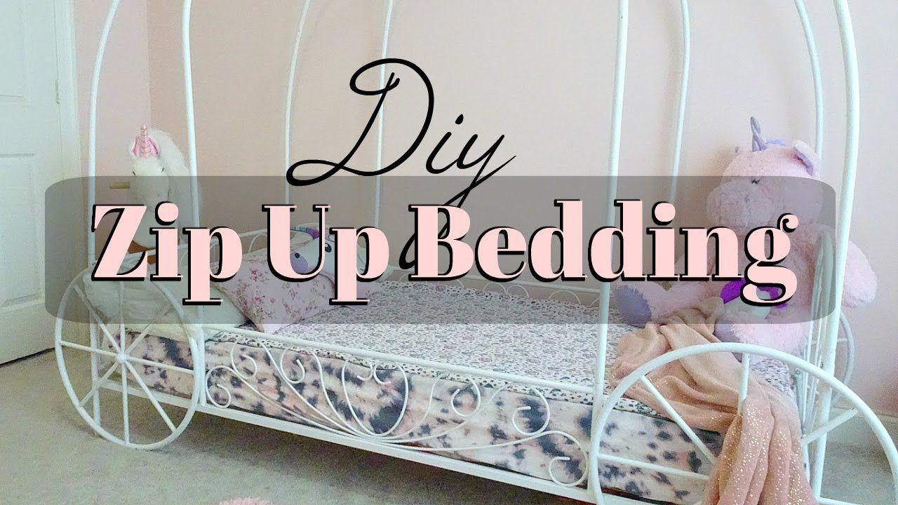 Diy Zip Up Bedding TWIN SIZE using already made sheet