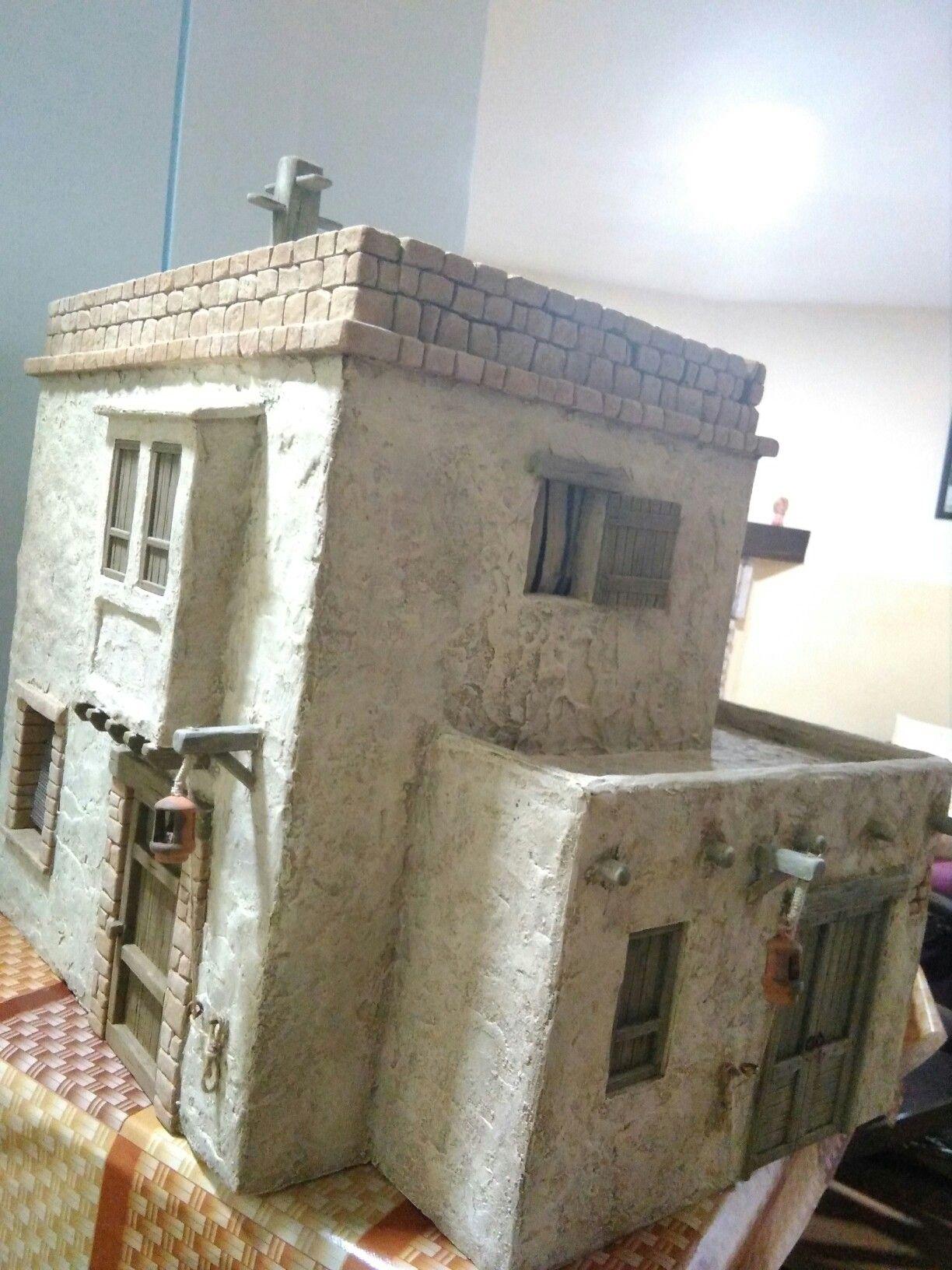 Casa Con Balcón Y Terraza Belenes Navideños Casas Para