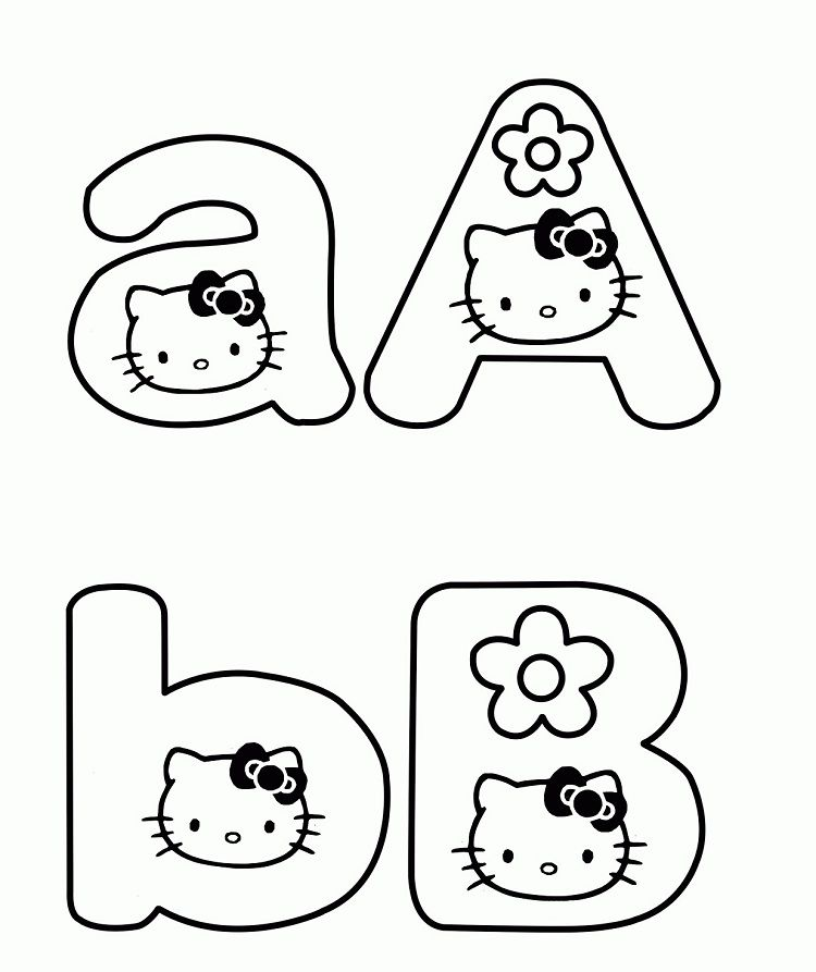Hello Kitty Abc Coloring Pages