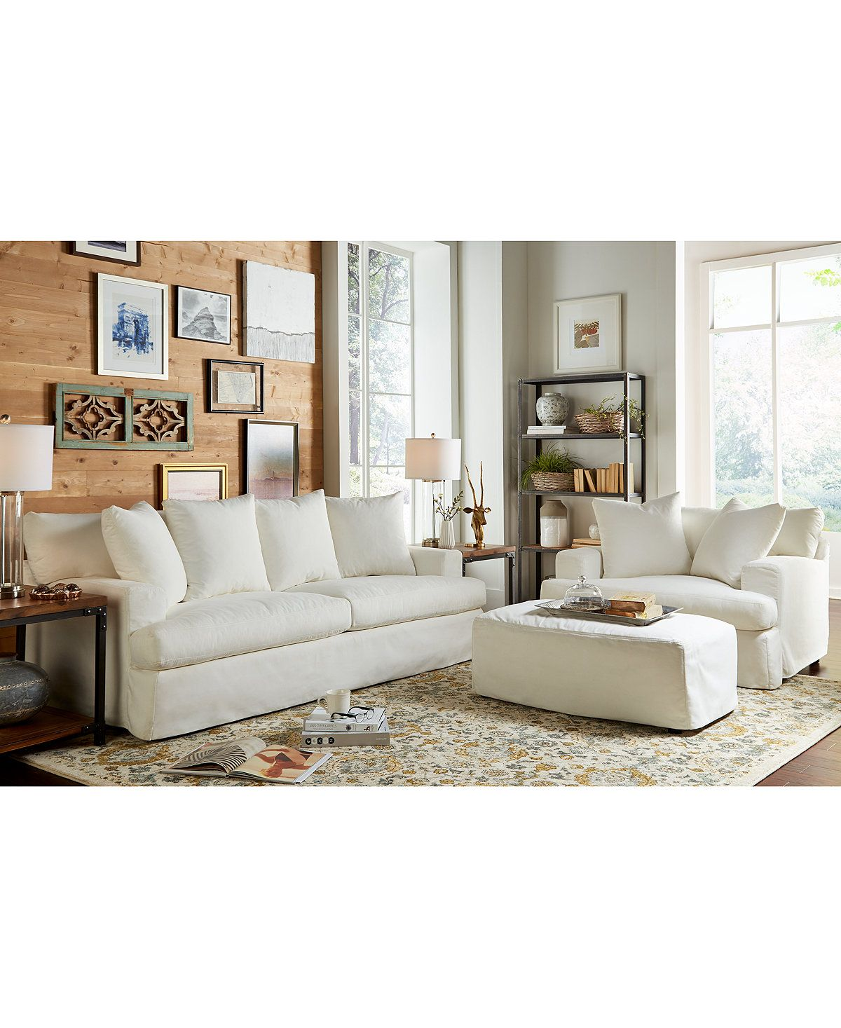 Sofa Outlet Cheshire Brenalee 93 Performance Fabric Slipcover Sofa In 2019 Living