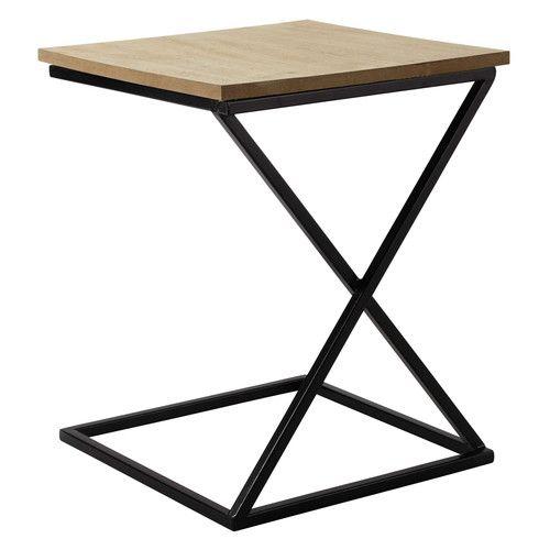Mesita de metal y madera An. 40 cm FELIX | Maisons du Monde ...