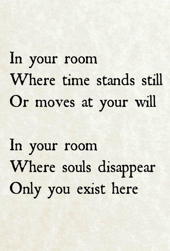 depeche mode in your room lyrics