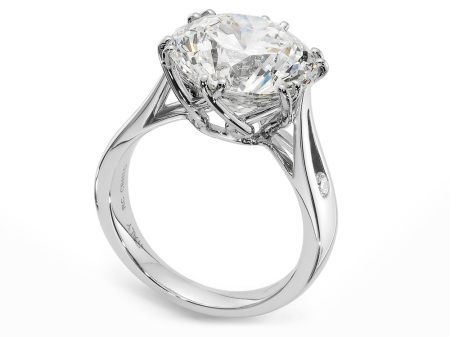 Check Out This Stunning Roberto Coin Cento Platinum Gold Bella Cestina Engagement Ring