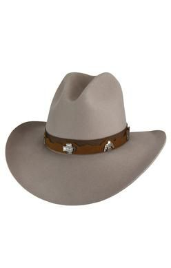 369fc06faae -100% Wool Cowboy Hat -Grosgrain and Leather Hat Band -Gus Crown -Available  in 2 Colors  Black and Mist