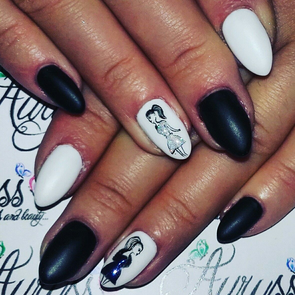 Nails art painting girl | nails art-painting | Pinterest | Girls