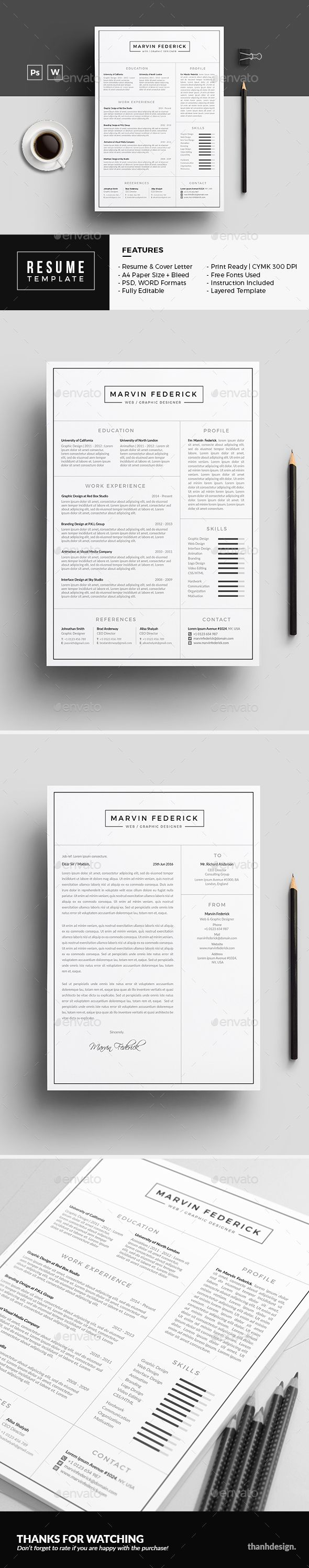 Resume  Psd Template Resume Minimalist Resume Clean  Download