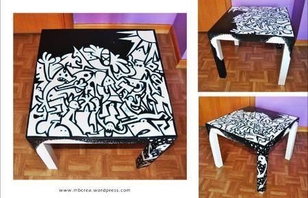 id e custo table basse au posca posca blog id es posca diy furniture pen art group art. Black Bedroom Furniture Sets. Home Design Ideas