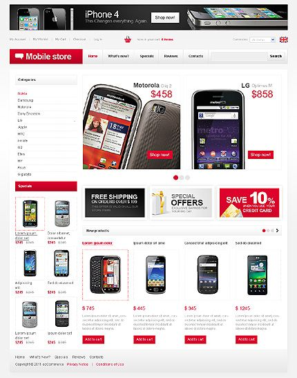 80+ Mobile Shop osCommerce Templates   Mobile shop, Template and ...