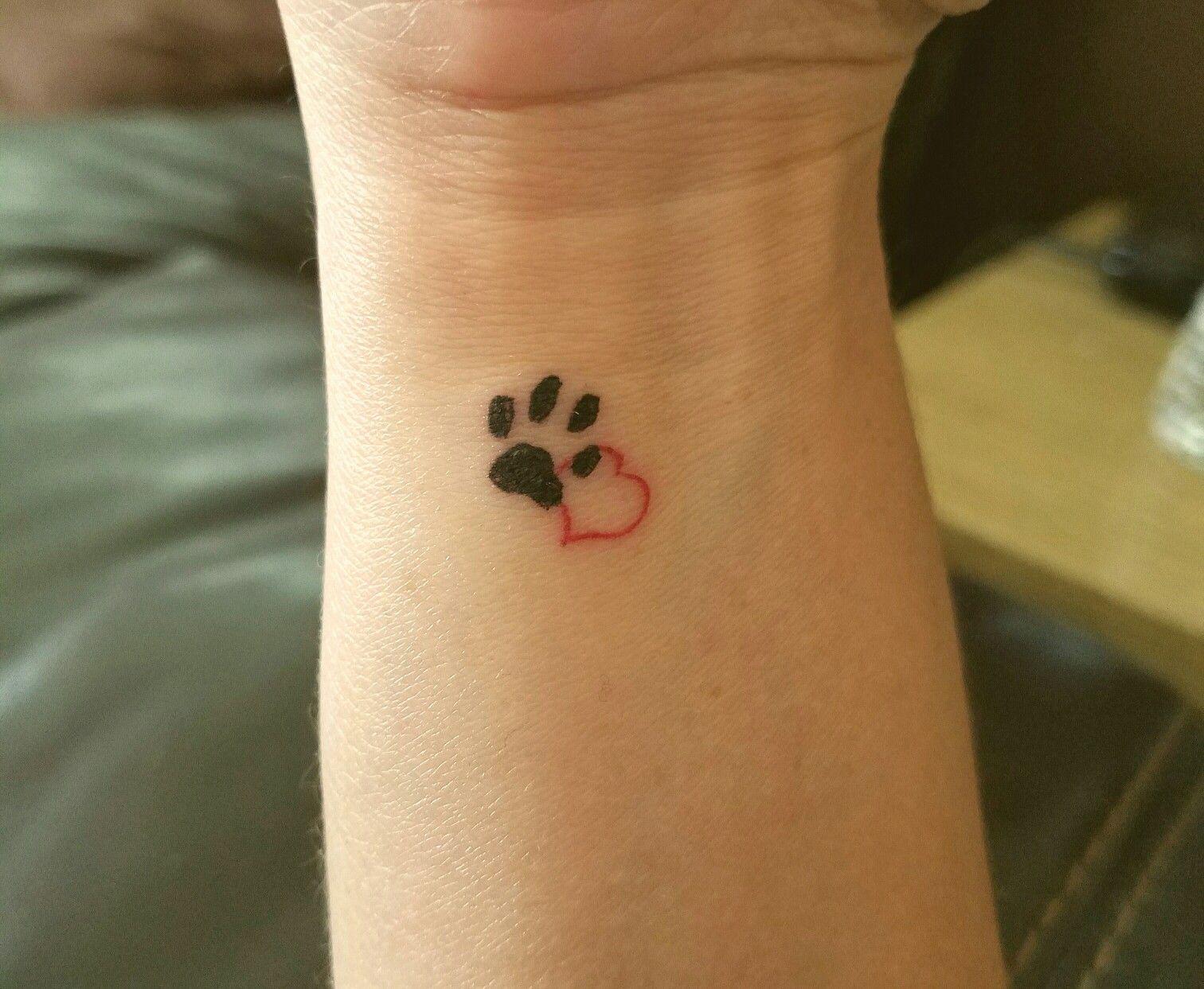 Tiny Dog Paw Tattoo Tattoos Dog Paw Tattoo Feather Tattoos
